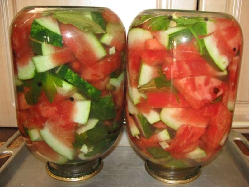 консервирование арбузов на зиму рецепты
